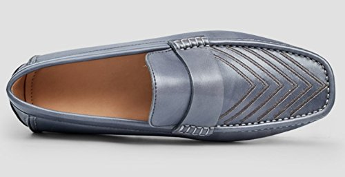 Happyshop Classic Business Mens Scarpe Mocassino Comfort Slip-on In Pelle Di Mucca Guida Scarpe Mocassini Grigi