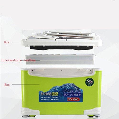 DM&Y 2017 32L multifunzione quattro gambe capacità scatola di pesci scatola attrezzi da pesca di sollevamento