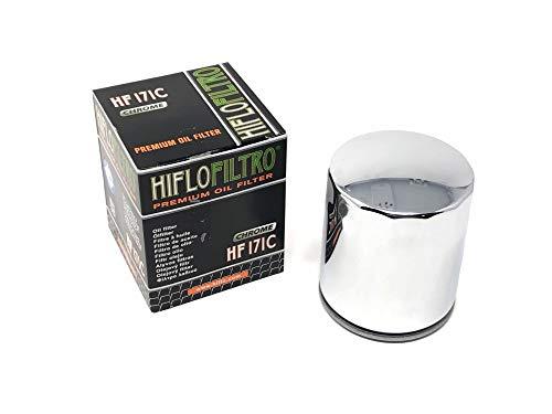 HIFLO Oil Filter HF171C Chrome Harley-Davidson Replaces: 63731-99/63798-99