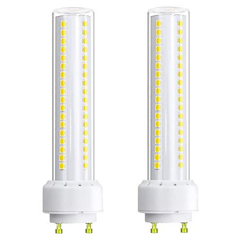 Klalright LED GU24 Bulb 12 Watt Tubular LED Light Bulb GU24 Base LED Bulb Soft White, 26W CFL Light Bulb Replacement, Horizontal Recessed GU24 LED Bulb Tube PL-S Lamp - ()