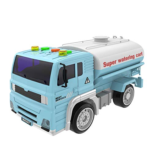 Watering Truck Toys Construction Toys Friction Powered Truck with Light and Sound, Birthday Gifts for Kids ( Batteries Included )