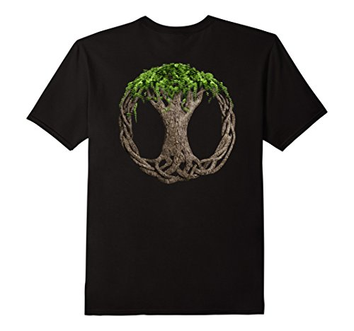 Mens Celtic Knot Tree Of Life T-Shirt 2XL Black