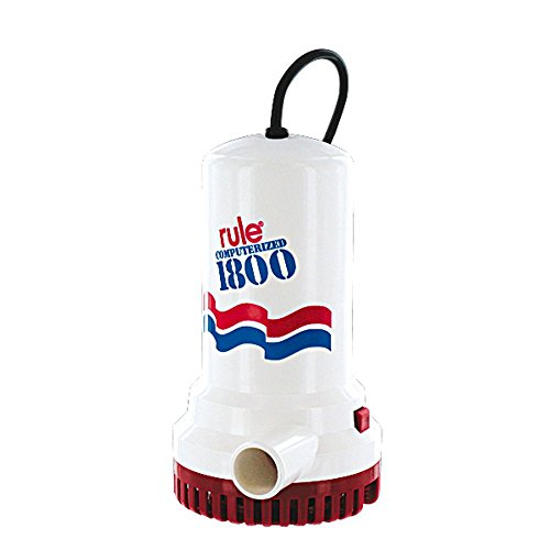 Rule A53D 1800 GPH Submersible Sump / Utility Pump, 8 Foot Cord, Non-Automatic, 110 Volt AC ()