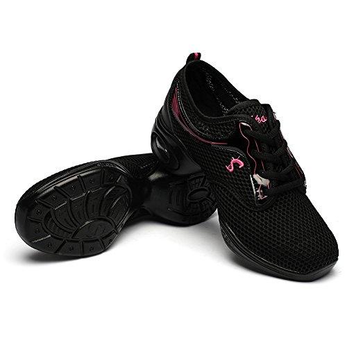 de Calzado T11 Mujeres zapatillas baile de la YKXLM ESA Danza de Danza jazz de Negro del Zapatos danza deporte Modelo Modernos 8BqftnW