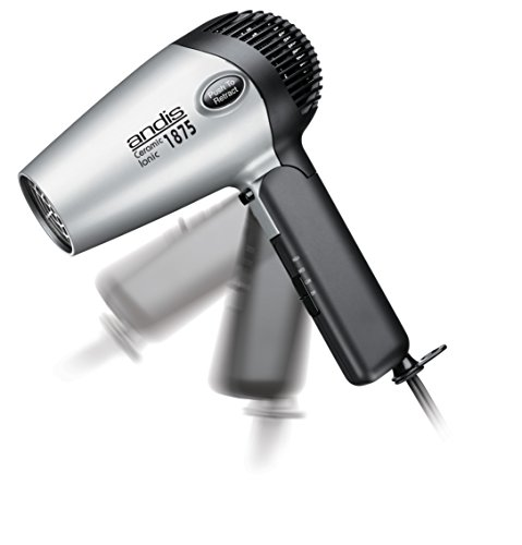 Andis 1875-Watt Fold-N-Go Ionic Hair Dryer, Silver/Black (80020) by Andis (Image #2)