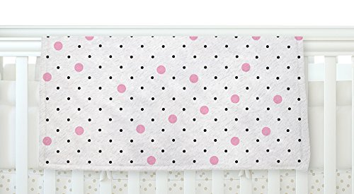 KESS InHouse Project M Pin Points Polka Dot Pink Pink Black Fleece Baby Blanket 40 x 30 [並行輸入品]   B077ZS81D3