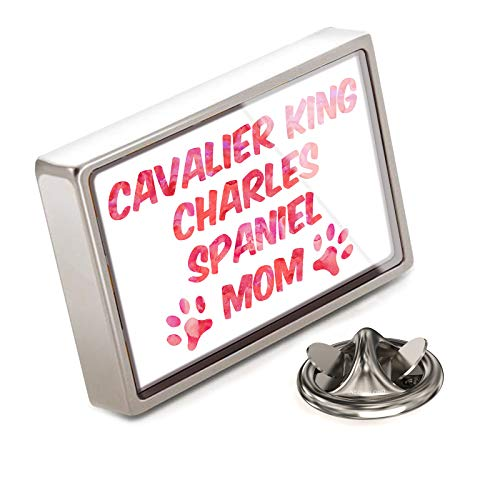 NEONBLOND Lapel Pin Dog & Cat Mom Cavalier King Charles Spaniel