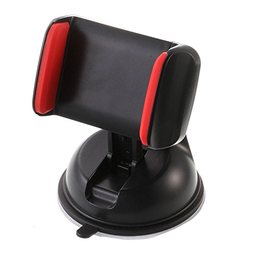 Black & Red 360 Degrees Rotary Outlet Car Suction Support Guide Stand