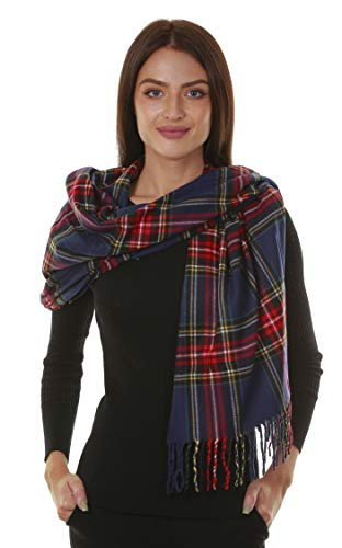 GILBIN'S Big Winter Warm Tartan Checked Cashmere Feel Shawl Blanket Scarf 80