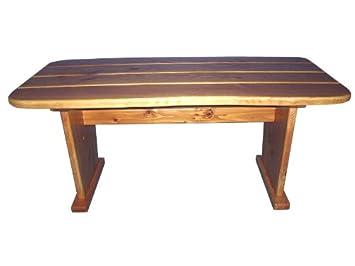 Gartentisch Rustikal amazon de gartentisch rustikal aus lärchenholz handarbeit