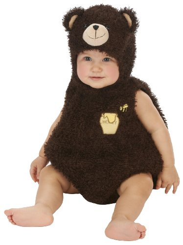 0-6 Month Bear Costume (Just Pretend Kids Infant Romper, 0-6 Months, Bear)