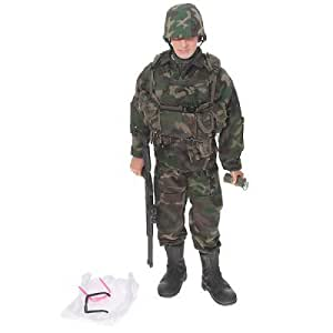 Handsome Soldier Doll with Weapon and Glasses - Camouflage