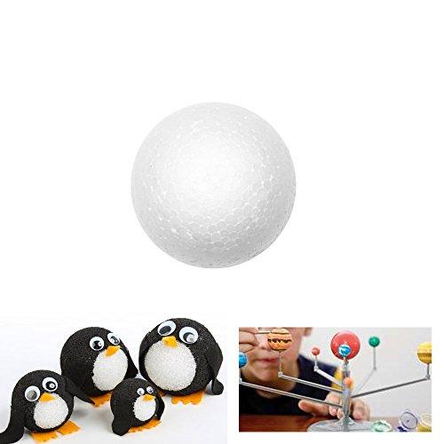 """48 Styrofoam School Arts Crafts Modeling Polystyrene Balls Ornaments 1 """" New !"""