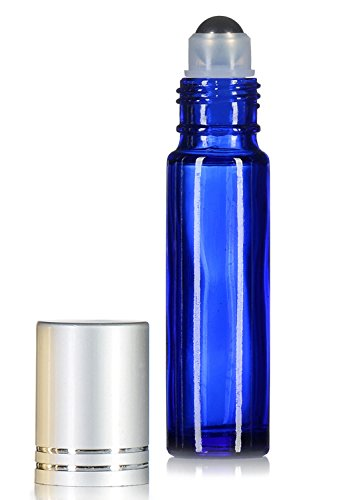 Essential Oils Roller Bottles with Recipe eBook Cobalt Bl...