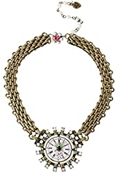 Betsey Johnson Wonderland Watch Frontal Necklace