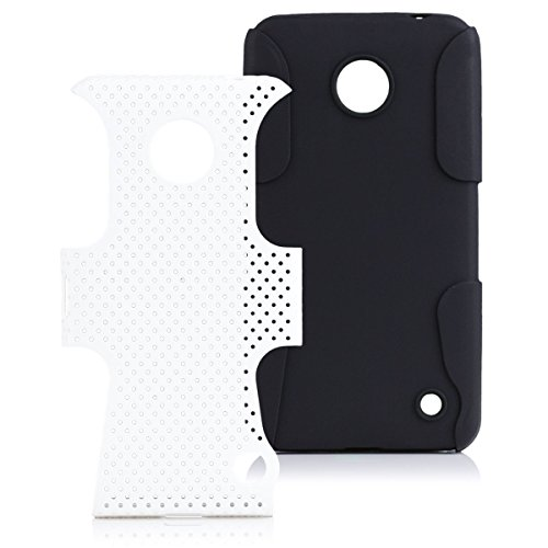 iCues Case Compatible with Nokia Lumia 630/635 2 Part Air White [Screen Protector Included] Heavy Duty Hard Cover shookproof Protection Shell Tough Military Protective Boys lifeproof Men (Nokia Cases 635)