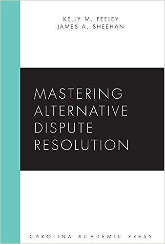 Mastering Alternative Dispute Resolution (Carolina Academic Press Mastering)