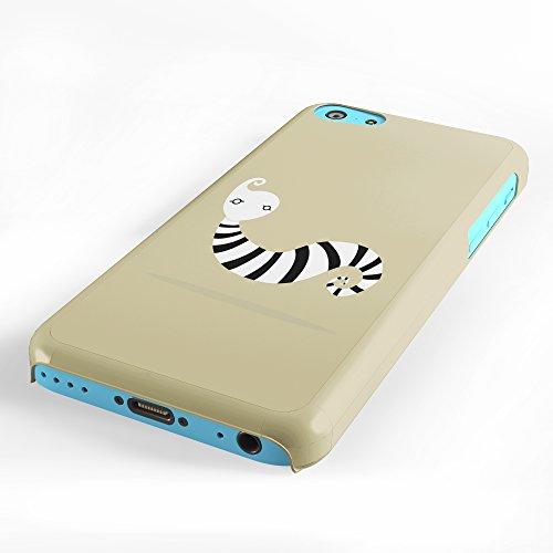 Koveru Back Cover Case for Apple iPhone 5C - Zebra Snail