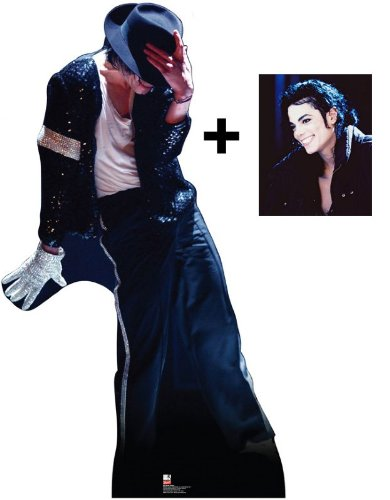 *FAN PACK* - MICHAEL JACKSON - LIFESIZE CARDBOARD CUTOUT / STANDEE / STANDUP - The King Of Pop Wearing Fedora Hat & White glove - INCLUDES 8x10