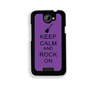 Keep Calm And Rock On - Purple - Protective Designer WHITE Case - Fits For Case Iphone 6 4.7inch Cover