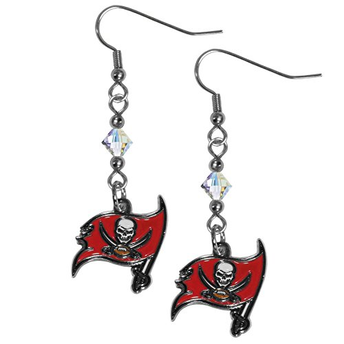 Tampa Bay Buccaneers Womens Rhinestone - Siskiyou NFL Tampa Bay Buccaneers Crystal Dangle Earrings