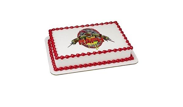 1/4 hoja - Raphael de las Tortugas Ninja - para tartas ...