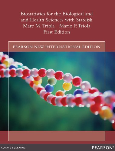 Amazon biostatistics for the biological and health sciences biostatistics for the biological and health sciences with statdisk pearson new international edition by fandeluxe Image collections