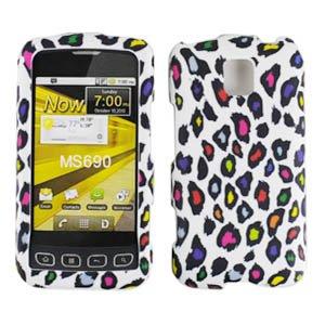 For Criket LG Optimus C Accessory - Color Leopard Peace Designer Hard Case Cover