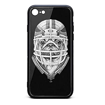 iPhone 7/8 Case Pugs Football Player Slim Shockproof Protection TPU Soft Rubber Silicone Phone Case Cover iPhone 7 8 Case [4.7inch]