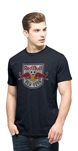 fan products of MLS New York Red Bulls Men's Scrum Basic Tee, Small, Fall Navy