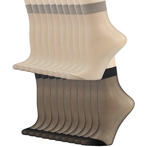 Tight Socks, INCHER Women's Nylon Socks Gift Office Business Ankle High Stockings Ankles For Women Hosiery Silk Short Socks Casual Ankle Sheer Socks 20 Pairs by INCHER