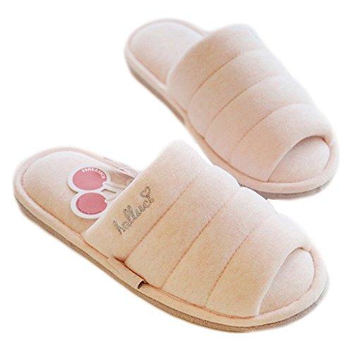 Confortable Adultes Rose Talon Plate À Ouvert Unisexe Couple Sandales Chaussures Forme Fortuning's Jds Pantoufles Coton Agréable Maison wqUaEnp6xI