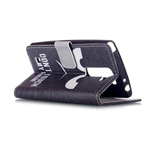 Funda para Moto G3 Generació, Flip funda de cuero PU para Moto G3 Generació, Moto G3 Generació Leather Wallet Case Cover Skin Shell Carcasa Funda, Ukayfe Cubierta de la caja Funda protectora de cuero  ojos negros