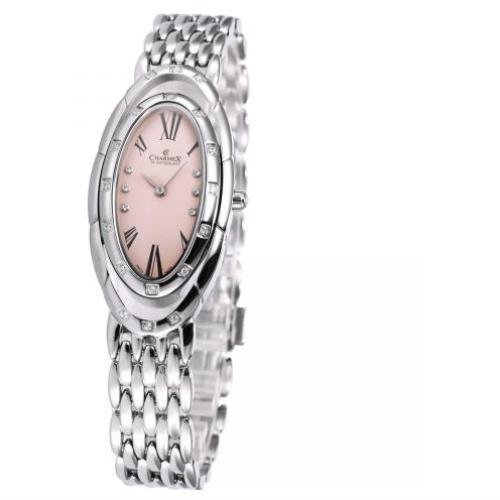 Charmex L's Bracelet Watch 5904 23.5x41mm Silver Steel Bracelet & Case Synthetic Sapphire Women's Watch