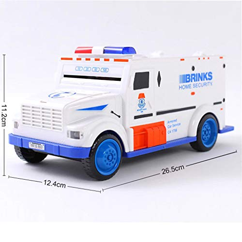 ESC White Armored Truck Password Piggy Bank Money Saving Box with Coin & Note Insertion Music by ESC (Image #6)