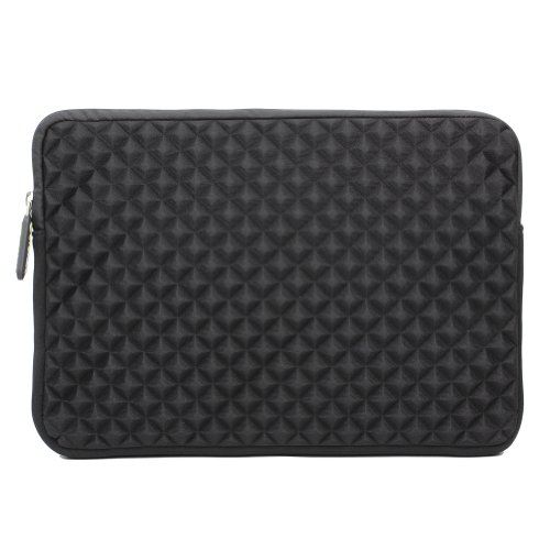 Laptop Sleeve, Evecase 11.6 ~ 12.5 inch Laptop/ Chromebook/ Ultrabook Notebook PC Diamond Foam Splash & Shock Resistant Neoprene Sleeve Case Travel Bag, Black - Inspiron Xps Lcd