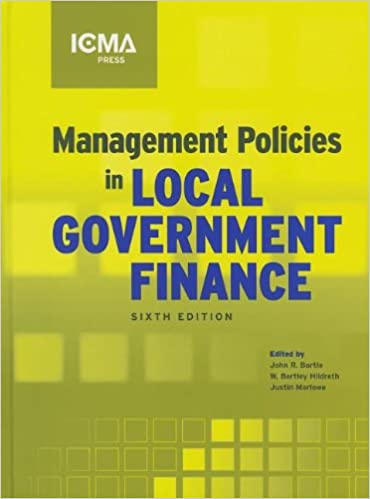 Management Policies In Local Government Finance