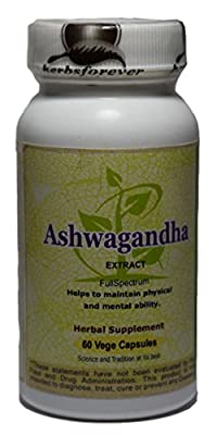 Ashwagandha (Withania Somnifera) (Ayurvedic Health Care Formulation) 60 Vege Capsules, 800 mg each Extract Ratio (10:1) (Concentrated)