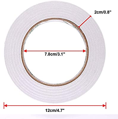 THIN 12mm x 50 Metre ROLLS OF DOUBLE SIDED PAPER TAPE CRAFT *MULTI QTY LISTING*