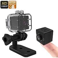 Mini Câmera Espiã Multifuncional Ação e Aventura Detecção de Movimento Full HD 1080p Visão Noturna Micro SD Até 32GB Estojo À Prova D'água (Preto)