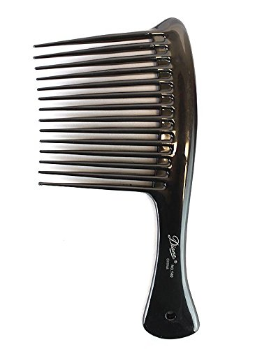 Diane Rake/Rage Comb Bone/Black, 1 Count, Hair detangler, hair brush, detangler, pulls out the knots in your hair, won't pull your hair, thick hair, thin hair, straight hair, wavy hair, adults and kids, boys and girls, men, women assorted color