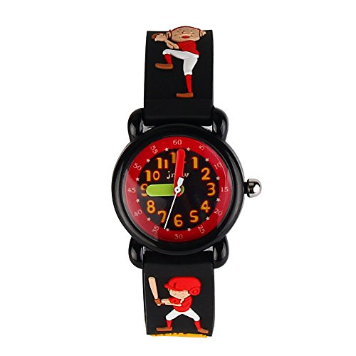 Zbt Band - ELEOPTION 3D Cute Cartoon Quartz Watch Wristwatches with Silicone Band Time Teacher for Little Girls Boy Kids Children Gift (Z- BT BOY Black)