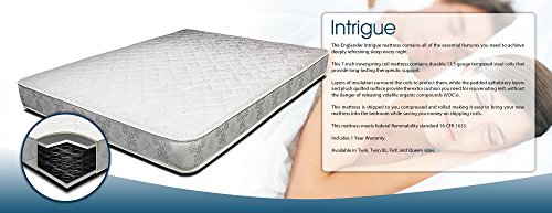 Englander Intrigue 7-Inch Quilted Innerspring Mattress, Made in the USA, Twin