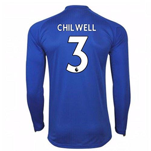 彼らは湖ウィザード2017-18 Leicester City Home Long Sleeve Shirt (Chilwell 3)