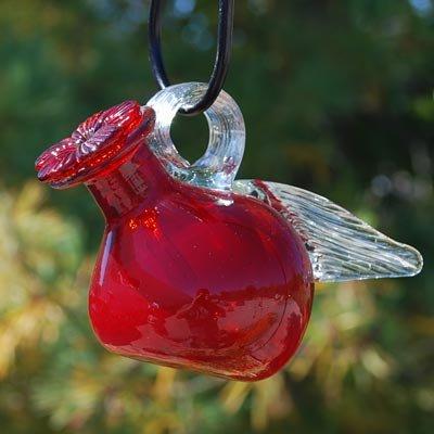 Parasol Pixie Hummingbird Feeder, Red, 4 oz.