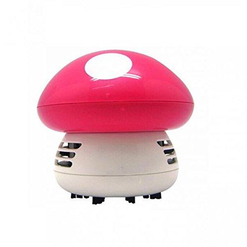 Mini Aspiradoras Aspiración de Polvo Mesa Escritorio Forma de Setas Esquina Limpio Barredora Linda - Rosa: Amazon.es: Hogar