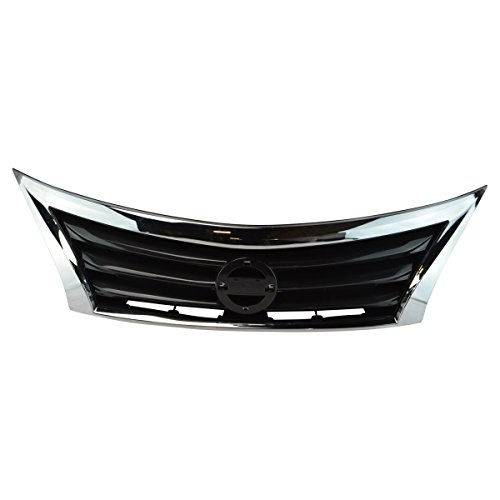 - Front Upper Bumper Mounted Grille Black & Chrome Surrounding for Nissan Altima