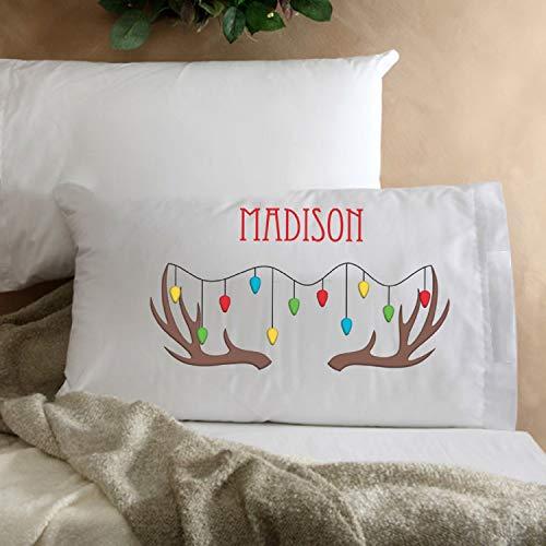 (Personalized Kids Christmas Character Pillowcase )