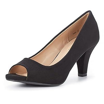 DREAM PAIRS Women's Susan Fashion Peep Toe Heels Dress Pumps Shoes