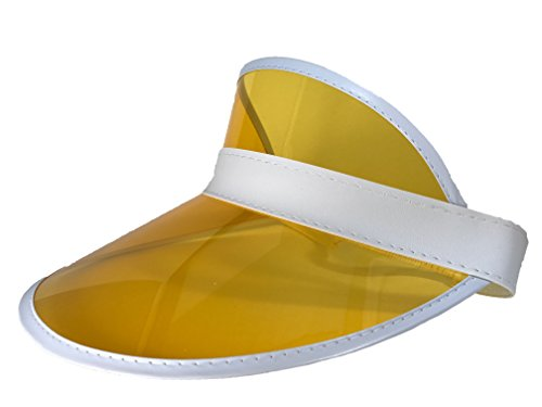 Athletic Club Visor Hat (Clear) for Outdoors, Hiking, and Sports (Sunny Yellow)